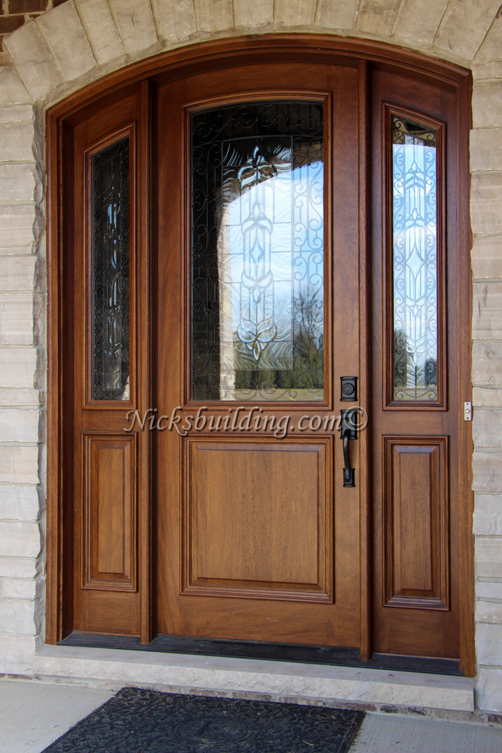 Mahogany Arched Doors Nicksbuilding