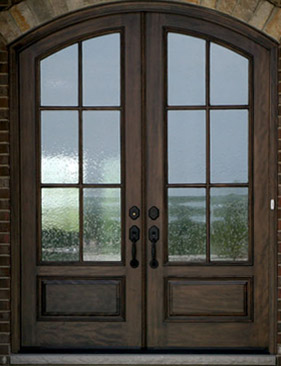 Mahogany arched doors nicksbuilding com for Arched french doors