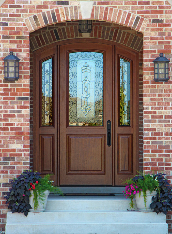 Entry Front Doors: MAHOGANY ARCHED DOORS