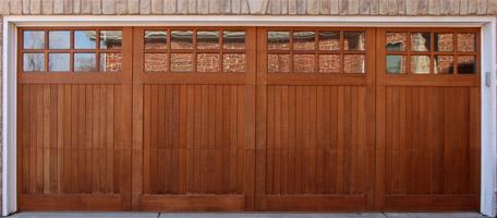 Wood overhead garage doors nicksbuilding com for Stained garage doors