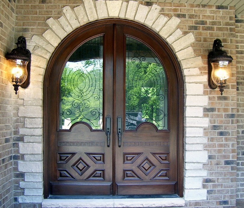 Round Top Doors Solid Wood Mahogany Entry Doors For Sale In Milwaukee  Wisconsin Part 15