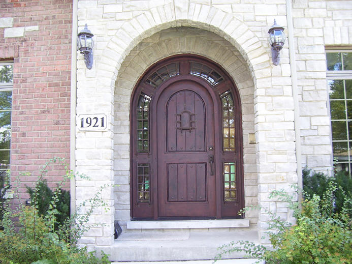 Round Top Arched Wood Doors For Sale In Michigan