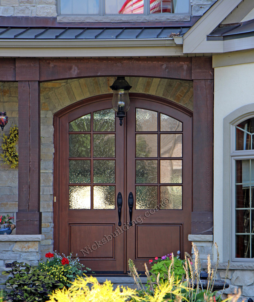Arched top radius wood doors for sale in indianapolis for French style front door