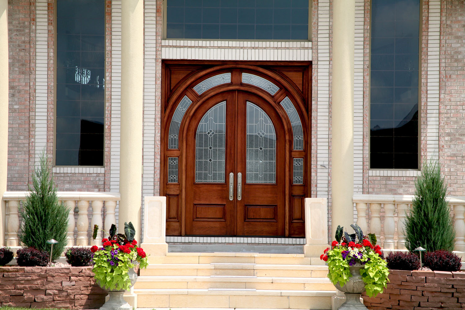 Arched top radius wood doors for sale in indianapolis for Arch door design