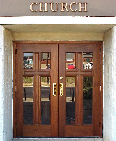 build wood exterior door