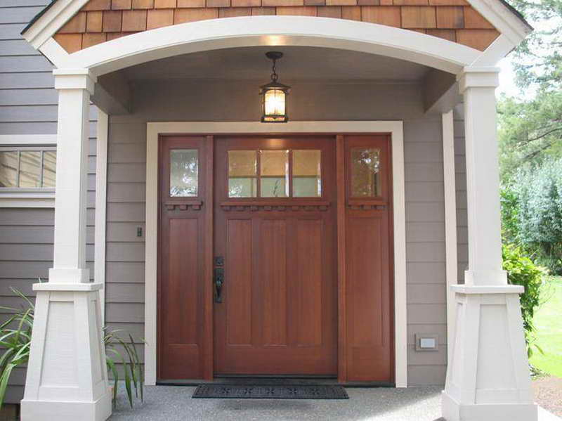 It's all about curb appeal! New front door, porch lights ...