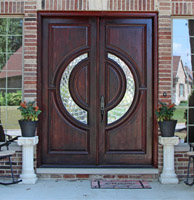 Modern Contemporary Wood Exterior Doors For Sale In Michigan