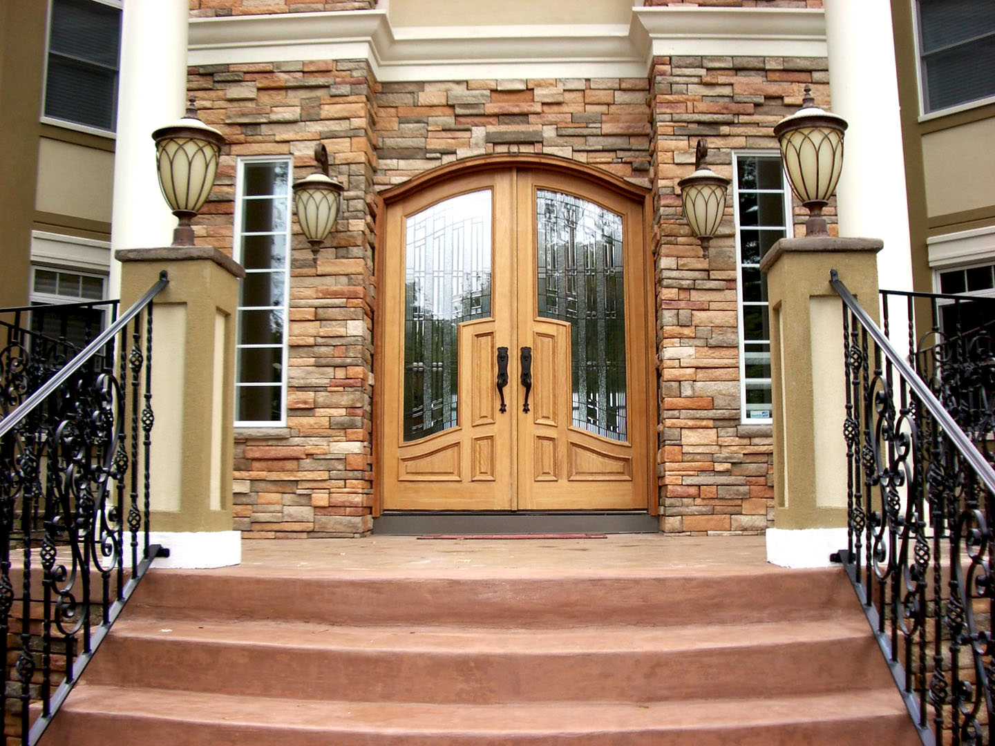 1080 #976534 Arched Top Radius Wood Doors For Sale In Indianapolis NICKSBUILDING  save image Arch Doors Exterior 39771440