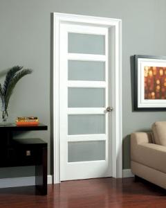 WHITE  PAINTED 5 PANEL MAHOGANY INTERIOR SHAKER DOOR FIVE PANEL DOORS  IN HAWAII