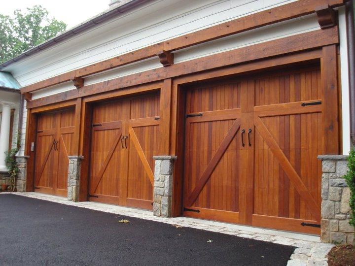 wood garage door weight