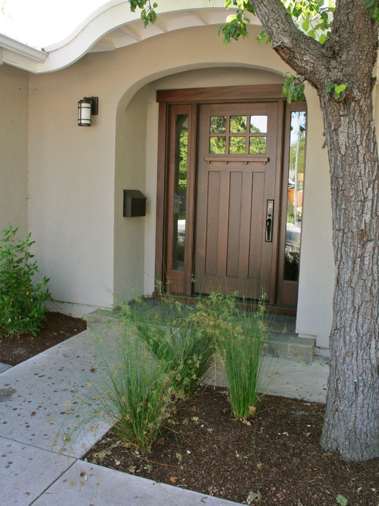 Arts and crafts doors craftsman style doors mission for Entryway garden designs