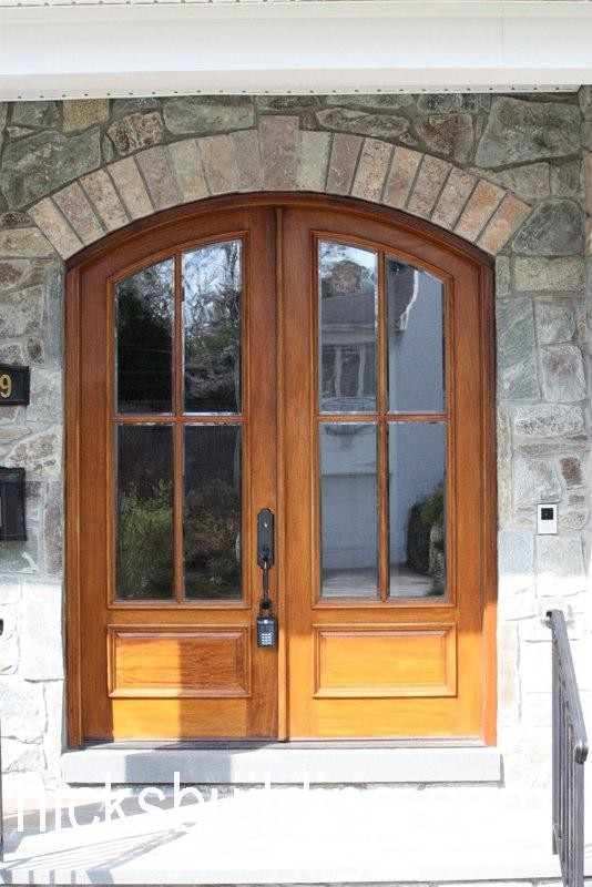 Arched top exterior doors round top front doors radius top for Exterior wood doors for sale