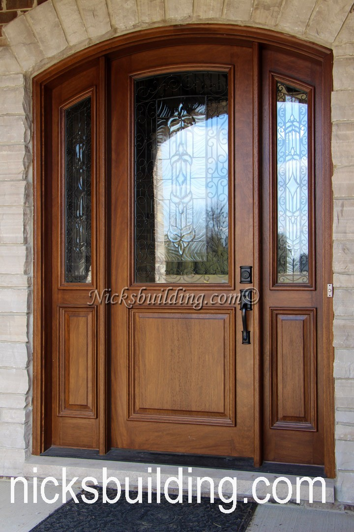 Arched top exterior doors round top front doors radius top for Wood front entry doors