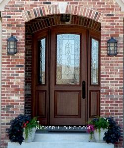 Wood mahogany front doors exterior doors entrance doors for 9 foot exterior doors