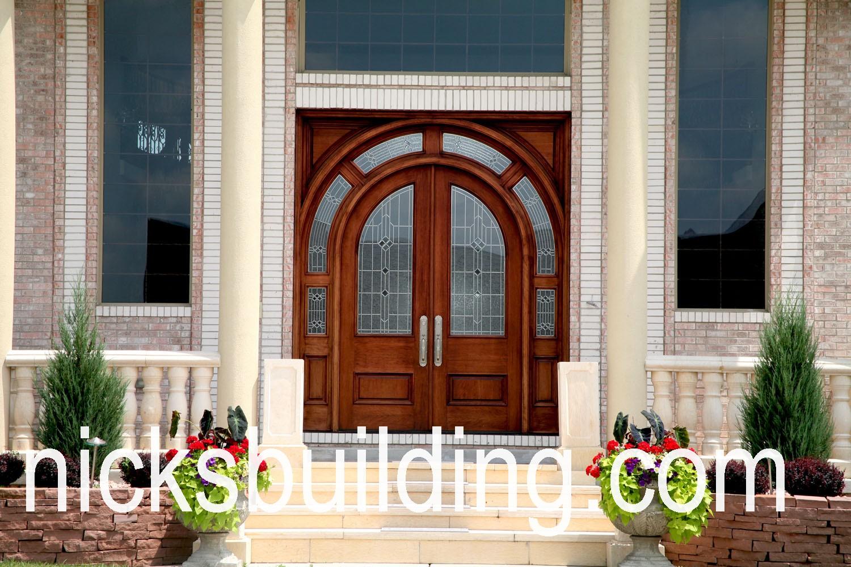 arched top radius front wood door for sale in michigan & arched top exterior doorsround top front doorsradius top entry ...