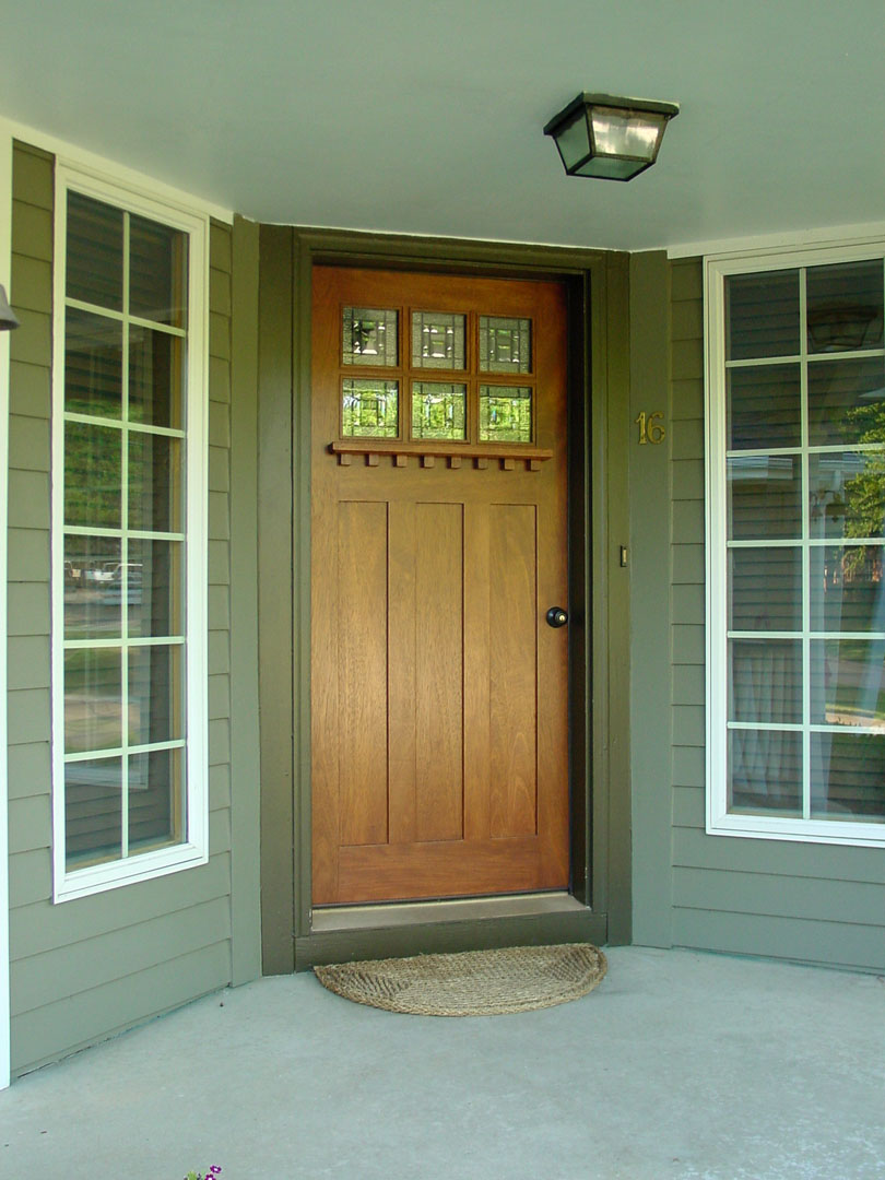 Arts and crafts doors craftsman style doors mission for Front door entrances