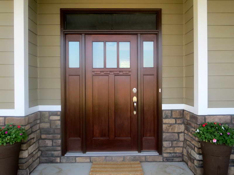 Craftsman doors craftsman style doors with sidelights for New style front doors