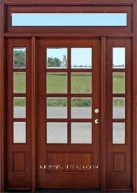 Wood mahogany front doors exterior doors entrance doors for External french doors for sale