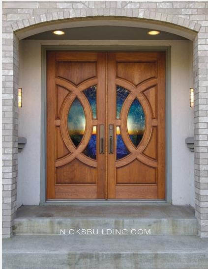 Wood mahogany front doors exterior doors entrance doors for Double front doors