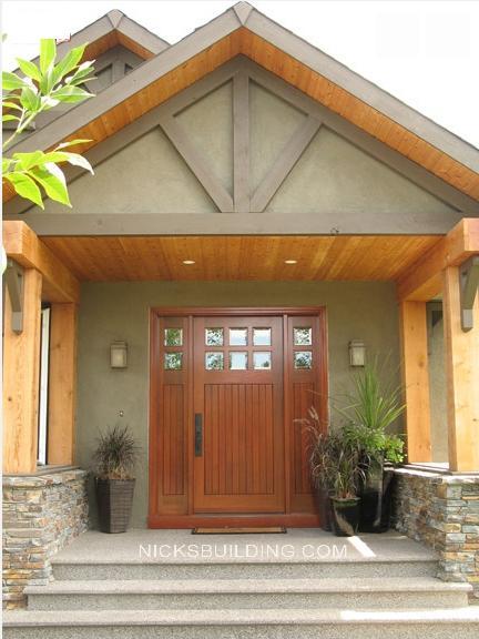 Craftsman Style Exterior Door Home Design