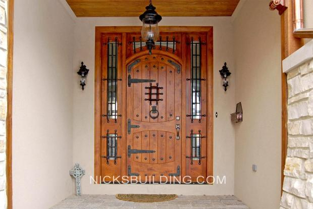 Rustic mediterranean front doors gothic doors tuscanny for House front doors for sale