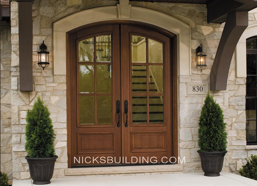 Wood mahogany front doors exterior doors entrance doors for Hardwood exterior doors