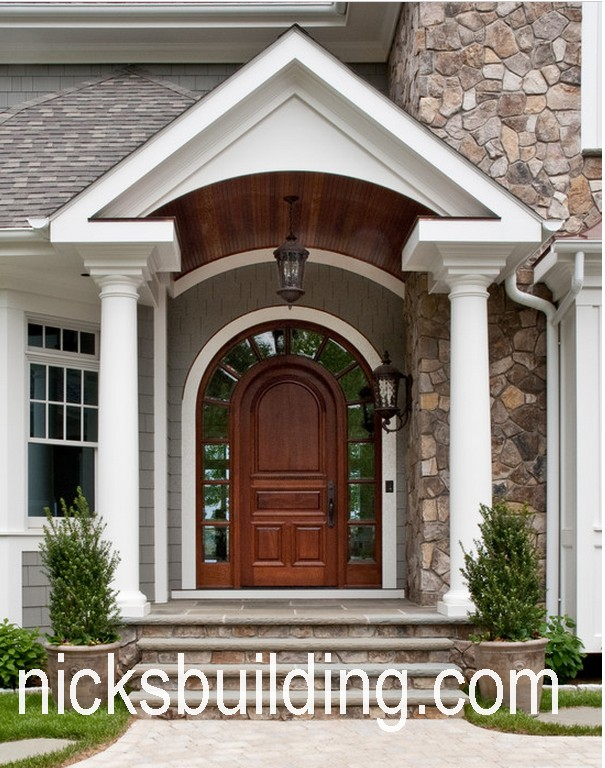 Arch top exterior doors radius arched doors round top for Front door arch design