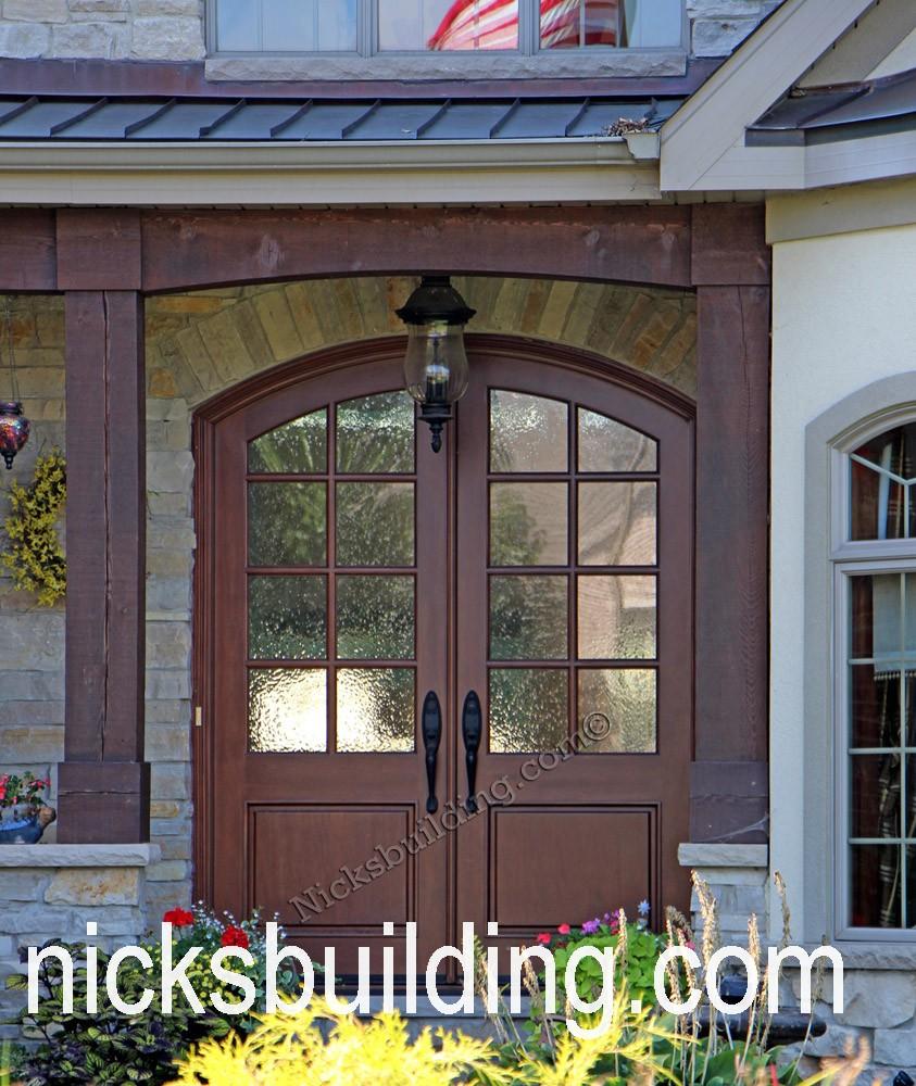 Arch top exterior doors radius arched doors round top - Puertas acristaladas exterior ...