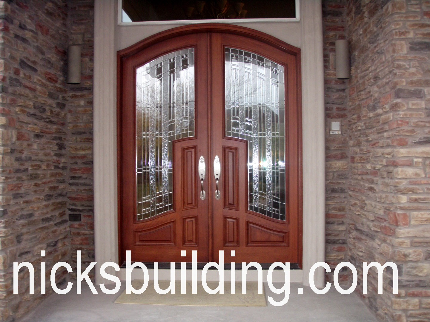 MAHOGANY EXTERIOR WOOD Front Doors Ohio ARCHED TOP DOORS RADIUS ROUND TOP  DOORS FOR SALE IN