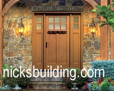 Craftsman doors mission doors exterior doors front doors for Arts and crafts door
