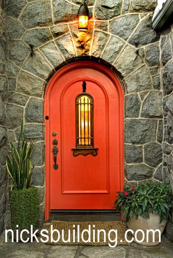 Arch top exterior doors radius arched doors round top for Exterior wood doors for sale