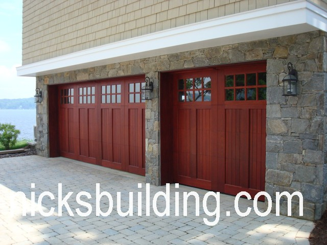 Wood overhead garage doors wood garage doors for sale in for Carriage style garage doors for sale