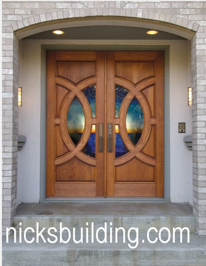 Modern Wood Exterior Entry Front Doors For Sale In Texas