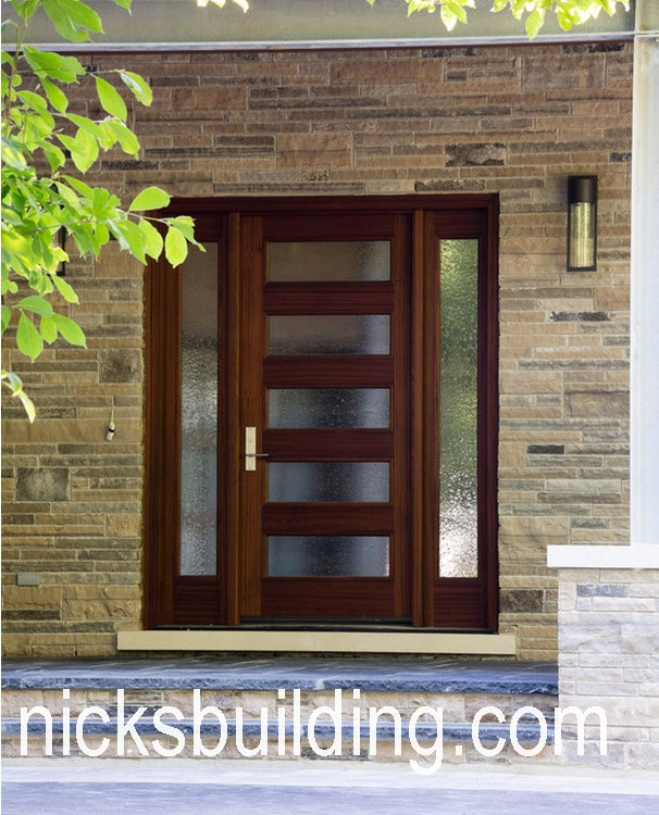 Mahogany Exterior Shaker Mission Craftsman Doors For Sale In
