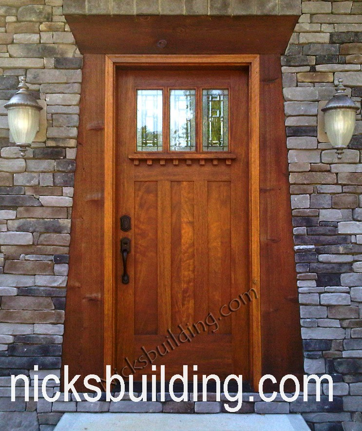 craftsman wood entry doors mission style shaker doors arts and crafts