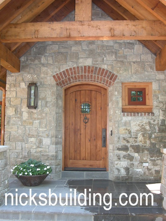 Stunning rustic entry wood door delhi glenn house for Exterior wood doors for sale