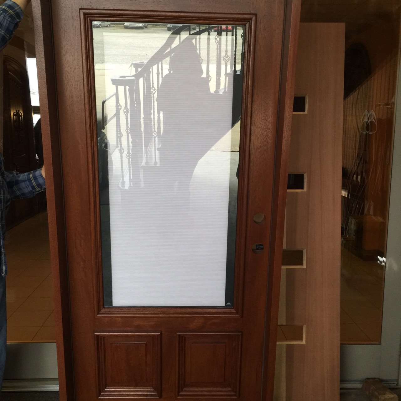 Wood Exterior Doors With Blinds Between The Glass Nicksbuilding