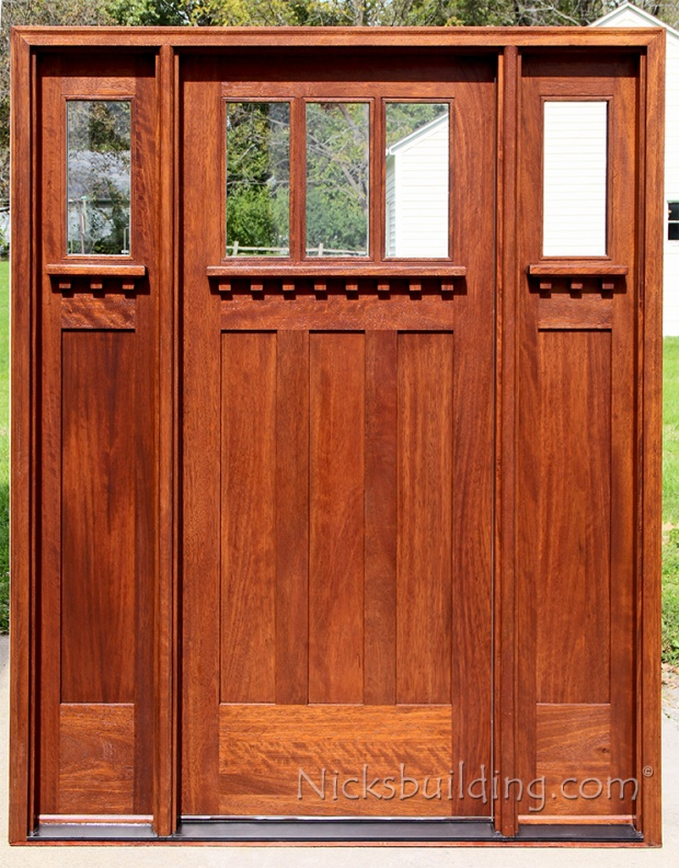 Craftsman style solid wood front doors for sale in valparaiso nicksbuilding com for Solid wood exterior doors for sale